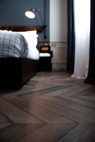 Upgraded Hardwood Flooring in Bedroom