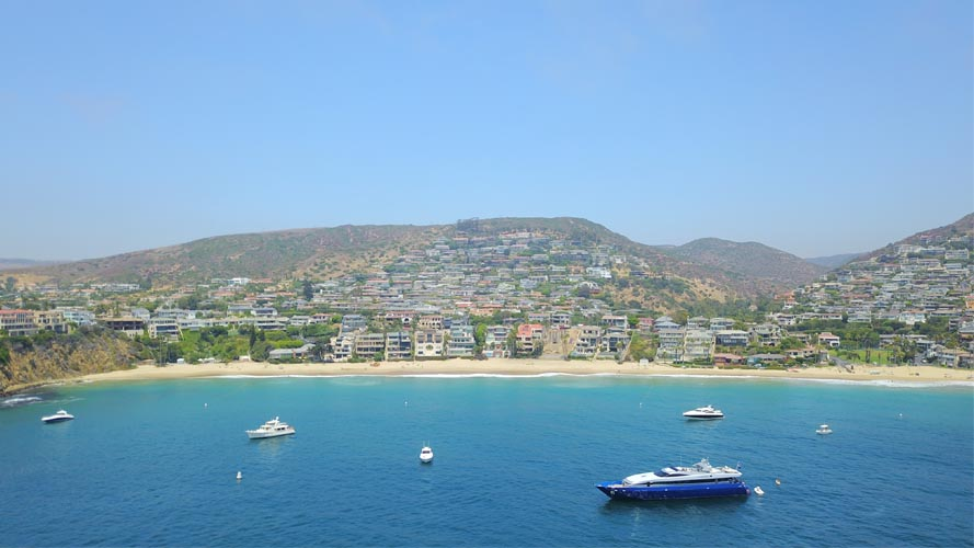 View over looking Laguna Beach CA