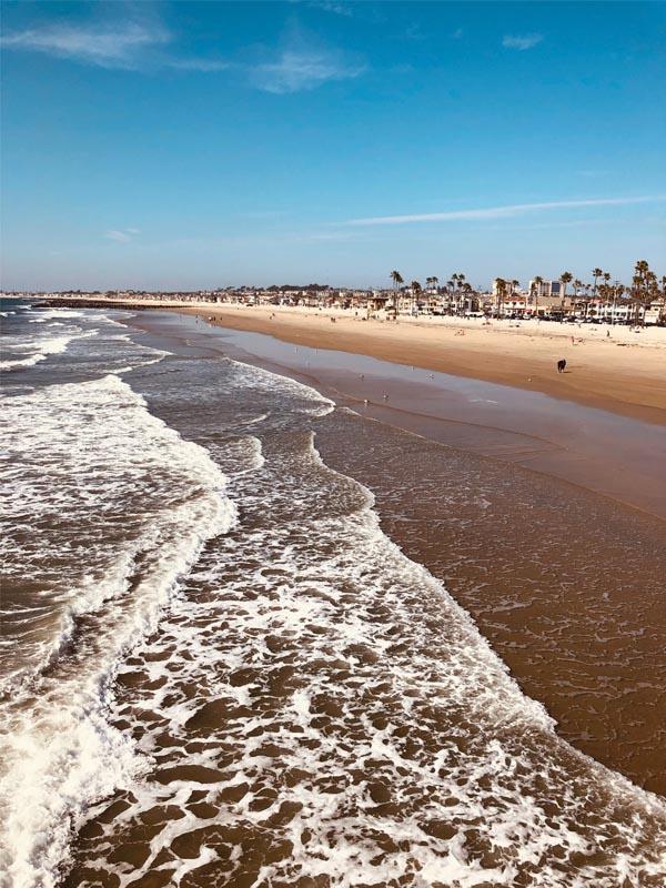 View of Newport Beach CA
