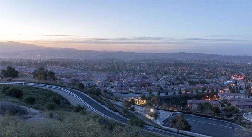 View of Yorba Linda CA